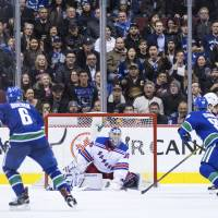 Rangers' John Gilmour nets winning goal in overtime against Canucks