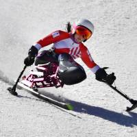 Japan paralympic Alpine skier Momoka Muraoka is considered a medal contender for the Pyeongchang Winter Paralympics. | KYODO