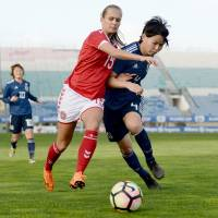 Japan women defeat Denmark at Algarve Cup to finish second in Group C