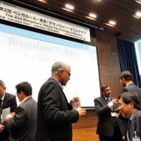 Professionals from Japan and India brainstorm on future IT ties at Tokyo tech event