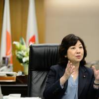 Seiko Noda, internal affairs and communications minister, is interviewed in Tokyo on Wednesday. | BLOOMBERG