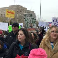 'Madder than hornets': Kentucky and Oklahoma teachers rally as red state rebellion grows