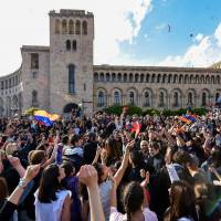 Armenia celebrates after Serzh Sargsyan quits as prime minister following protests