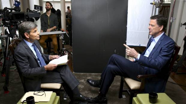 In interview, ousted FBI chief James Comey says it's 'possible' that Russians have leverage over Trump