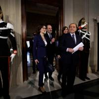 Italy's top three rightist parties united in bid to form government and name prime minister