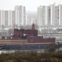 Floating nuclear plant built in Russia towed to sea for fueling trip