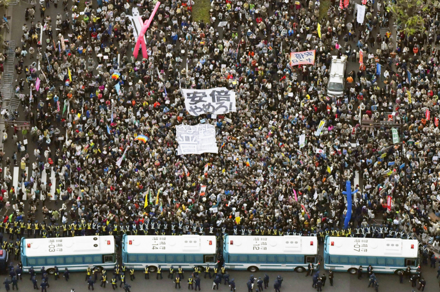 Tens of thousands of protesters demonstrate outside Diet, demand 'liar' Abe's resignation over scandals