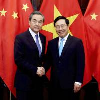 Hanoi and Beijing urge restraint in resolving disputes in South China Sea