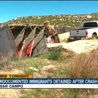 Several hurt as horse trailer flips while smuggling at least 18 people into U.S. on California road