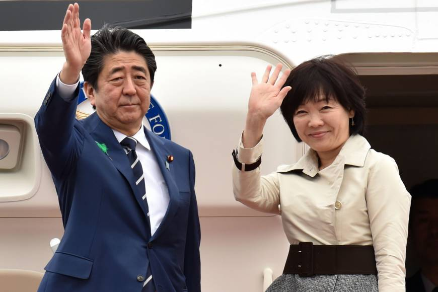 Abe seen to be in the 'danger zone' as scandals pile up