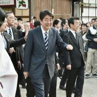 Scandal-hit Abe moves  to shore up base in Osaka ahead of LDP presidential election