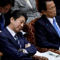 On sex harassment complaint, Finance Minister Taro Aso objects to font size