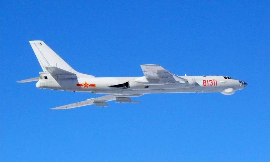 Chinese military aircraft flew over strategic waterway record number of times in fiscal 2017, Japan Defense Ministry says