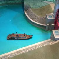 At a small museum at Kyoto's old Fushimi Port, a diorama shows visitors how ships from Osaka moved through a lock before arriving. | ERIC JOHNSTON