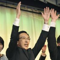 Nishiwaki triumphs in Kyoto gubernatorial race, vows to continue policies of predecessor