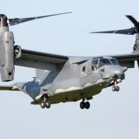 A U.S. Bell Boeing CV-22B Osprey lands at Mosnov Airport in the Czech Republic in September 2014. | AP