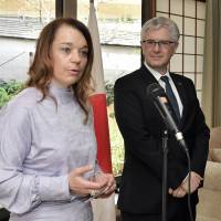 Slovenia and Colombia envoys raise awareness of land mines at event in Tokyo