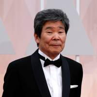 Isao Takahata, one of two best animated film nominees for the film 'The Tale of Princess Kaguya,' arrives at the 87th Academy Awards in Hollywood, California, in 2015. | REUTERS