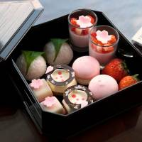 Cherry blossom-themed fare sweeps hotel dining