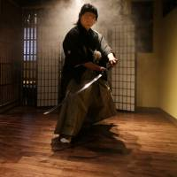 Striking a pose: Masakumo Kuwami, the 10th Grandmaster of the Tenshinryu Hyouho, ready for battle. | KIT NAGAMURA
