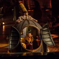 A whole new world: Mini Lili lives inside the bulbous Mr. Microcosmos in Cirque du Soleil's 'Kurios: Cabinet of Curiosities.' | MARTIN GIRARD / SHOOTSTUDIO.CA © 2014 CIRQUE DU SOLEIL