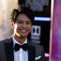 Hollywood debut: Win Morisaki attends the premiere of 'Ready Player One' in Los Angeles last month. | REUTERS