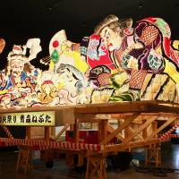 A mighty sight: Gigantic nebuta (floats) from the previous year's festivals are displayed at the Nebuta Museum Wa Rasse in the city of Aomori. | KATHERINE WHATLEY