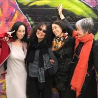 Power to the poets: Harumi Kawaguchi (left), Hiromi Ito, Takako Arai and Kayoko Yamasaki at the Poetry on the Move Festival 2017 in Canberra, Australia. | INTERNATIONAL POETRY STUDIES INSTITUTE, UNIVERSITY OF CANBERRA