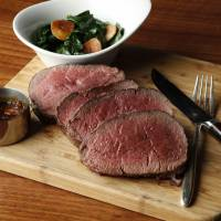 Grilled sirloin and chateaubriand steak are among The Tavern — Grill & Lounge's eclectic menu options. | ANDAZ TOKYO TORANOMON HILLS