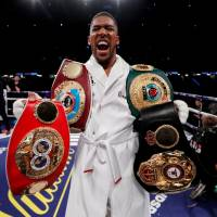 Anthony Joshua beats Joseph Parker to collect third heavyweight belt