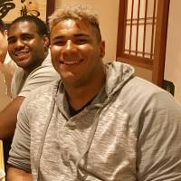 Texans defensive lineman Christian Covington took time out of his schedule to visit Japan this spring. | KAZ NAGATSUKA