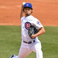 Chicago starter Yu Darvish pitches against Milwaukee in the second inning on Friday.   USA TODAY / VIA REUTERS