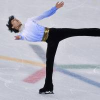Yuzuru Hanyu returned from injury in dramatic fashion in the short program at the Pyeongchang Olympics on the way to making history by winning his second straight gold medal. | PETER KNEFFEL/PICTURE-ALLIANCE/DPA/AP IMAGES