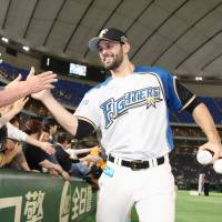 Pitcher Nick Martinez finding Japan to his taste after joining Nippon Ham from Rangers