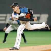 Naoyuki Uwasawa has gotten off to a 2-0 start for the Fighters this season. | KYODO