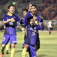 Substitute Patric powers Sanfrecce's win over Marinos