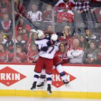 Blue Jackets sting Capitals in OT to go up 2-0