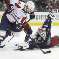 Caps top Blue Jackets, even series 2-2
