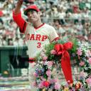 Hiroshima Carp legend Sachio Kinugasa, seen here in 1987, died Monday at the age of  71.