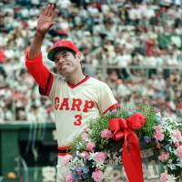 Hiroshima Carp legend Sachio Kinugasa, seen here in 1987, died Monday at the age of  71. | KYODO