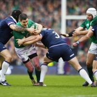 Scotland and Ireland will face each other at the 2019 Rugby World Cup in Japan, the first to be played in Asia. | KYODO