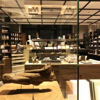 A priceless source material for incense is displayed at the entrance of Kunkyokudo's first Tokyo flagship store. | MIO YAMADA