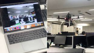 [VIDEO] Introducing T-Frend: a Japanese drone that monitors office workers