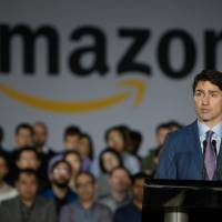 With Trudeau on hand, Amazon announces it will add another 3,000 jobs in Vancouver