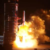 China launches satellite as part of program to explore dark side of moon later this year
