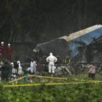Airliner with 110 aboard crashes in Cuba; three said to survive