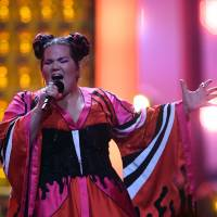 Netta Barzilai performs 'Toy' during the final of the Eurovision Song Contest in Lisbon on Saturday. | AFP-JIJI