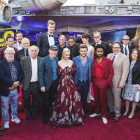 The cast of 'Solo: A Star Wars Story' arrive for its premiere on Thursday in Los Angeles.   COLIN YOUNG-WOLFF/INVISION/AP