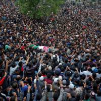 Indian forces fire on Kashmir protesters, killing at least five after battle with suspected rebels