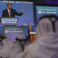 In oblique critique of Trump, John Kerry says civil discourse is under threat worldwide